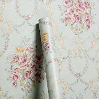 Wollzo Floral Bedroom Self Adhesive Wallpaper (Multicolour, 45 x 500 cm)
