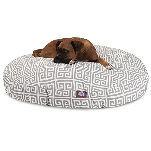 Towers Round Pet Bed, Large , Gray