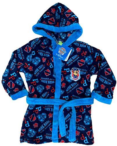 Nickelodeon TM Paw Patrol blauw Mix badjas met capuchon, badjas met karakter, zachte fleece badjas voor jongens