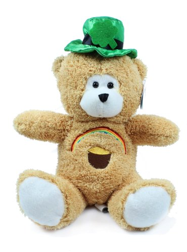 St. Patrick's Day Bear with Rainbow