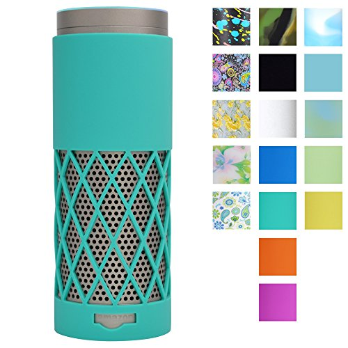 Auchee Echo Plus Case, 2mm Sleek Mesh Design Echo Plus Silicone Case for Echo Plus Only, 17 Colors for Choice from Classic, Vibrant to Artistic (Green)