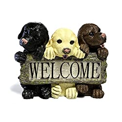 3 Light Welcome Dog Sign