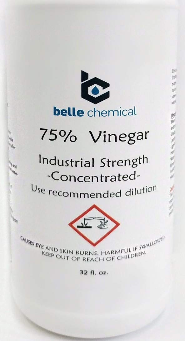75% Pure Vinegar - Concentrated Industrial Grade 32oz by Belle Chemical