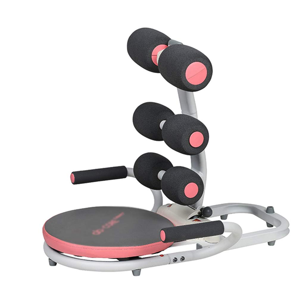 腹筋器具 腹部トレーナーシットアップトレーニング装置ワークアウトフィットネストレーナーボディエクササイズマシン (Color : Pink)  Pink B07KJYMC7Q