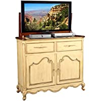TV Lift Cabinet for 32-46 inch Flat Screens (Weathered Cream) AT006332-CRM