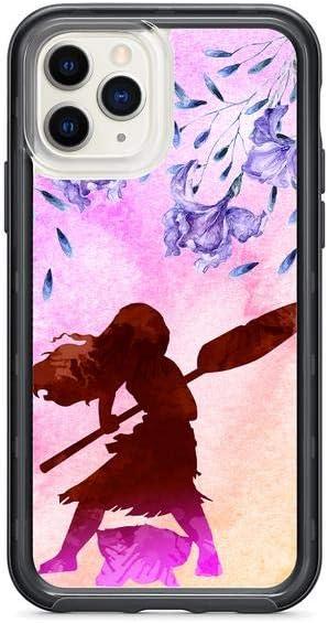 Kaidan Girl with Paddle iPhone Xs X XR 6 6s 11 Pro Max 8 7 Plus Moana Art 5 5s SE Case Princess Samsung Galaxy s10e S9 S8 Plus S10 + Lite Lilac Flowers Note 9 8 Google Pixel 3 XL 2 Watercolor am209