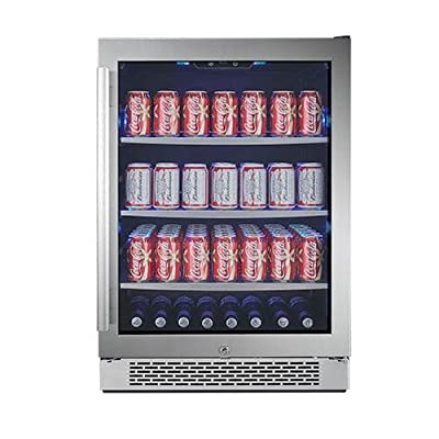 Avallon ABR241GRH 24 Inch Wide 152 Can Beverage Center with LED Lighting, Touch