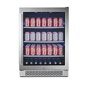 Avallon ABR241SGRH 152 Can 24″ Built-In Beverage Cooler – Right Hinge : Great new beer fridge.