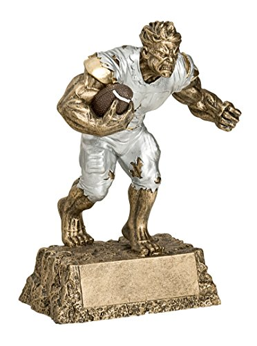Decade Awards Monster Football Trophy | Fantasy Football Award - Engraved Plates by Request - Perfect Football Award Trophy - Hand Painted Design - Made by Heavy Resin Casting - for Recognition (Football Resin Trophies)