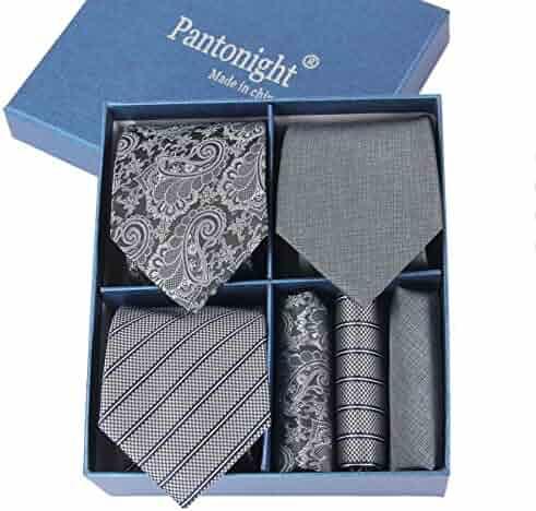 fd446e950ab5e Men s Tie Set Necktie   Pocket Square Lot 3 PCS Classic - Multiple Sets