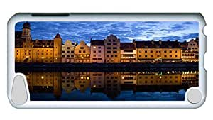 Rugged iPod Touch 5 Case, Gdansk Poland Polycarbonate Plastic Case for iPod Touch 5 /iPod 5/ iPod 5th Generation PC White
