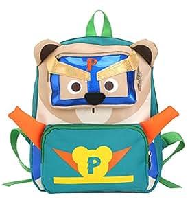 TeMan Children Backpack Kindergarten Cartoon Schoolbag for Kids Bear Backpack Green