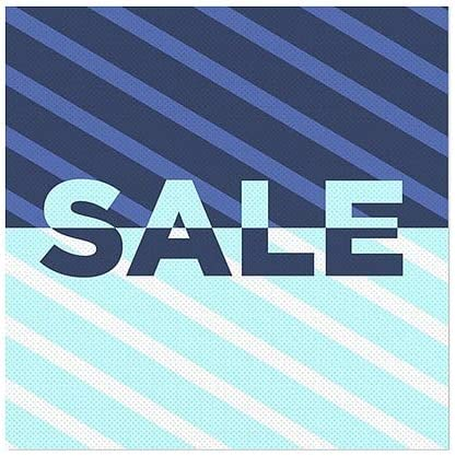 Sale 24x24 CGSignLab Stripes Blue Perforated Window Decal 5-Pack