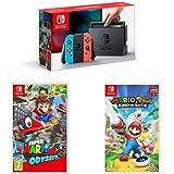 Nintendo Switch Neon with Super Mario Odyssey & Mario Rabbids