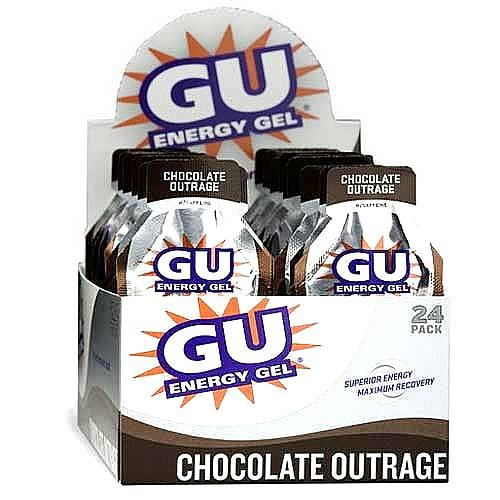 Gu Energy Gel-dietary Supplements, Chocolate Outrage 24 Ea (Pack of 2)