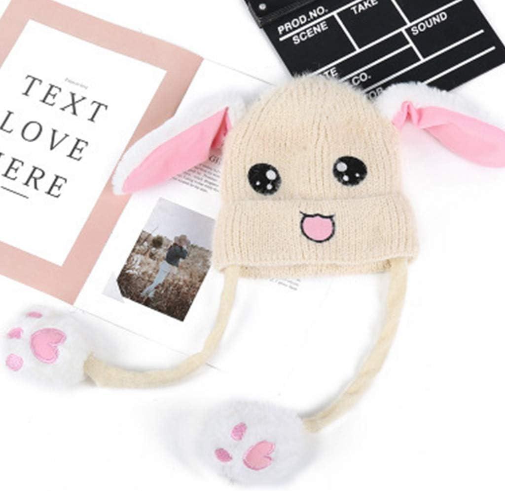 dressfan Giocattolo del cappello dellorecchio di coniglio della peluche delle ragazze delle ragazze divertenti Regalo di compleanno-Premendo il Bunny Cap far/à