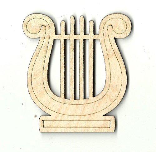 Harp Lyre - Laser Cut Unfinished Wood Shape MSC7 ()