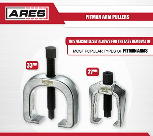 ARES 70840 | Front End Service Set | Allows for Easy Removal of Most Popular Types of Pitman Arms, Tie Rods and Ball Joints Storage Case Included by ARES (Image #2)