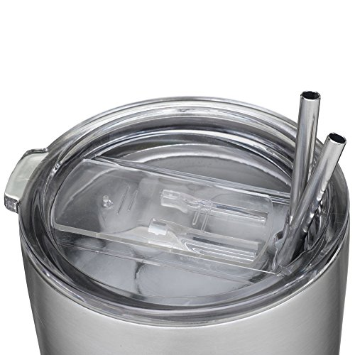 2 Replacement Lids for 30oz Stainless Steel Tumbler Travel Cup - Fits Yeti RTIC and others - Comes Complete with Carabiner Key Chain