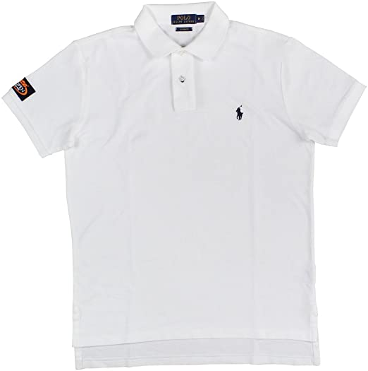 a9fc513315 Polo Ralph Lauren Mens Textured Custom Fit Polo Shirt White M at ...