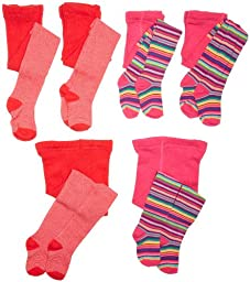 Country Kids Baby Girls\' Stripe 2 Pack Tights, Hot Pink, 12 24 Months
