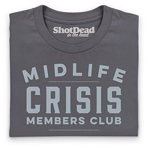 Shotdeadinthehead Midlife Crisis Club T-Shirt, Damen: Amazon.de: Bekleidung
