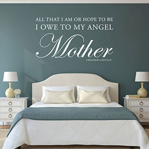 Inspirational Quotes Wall Art About Mothers - Abraham Lincoln Quote