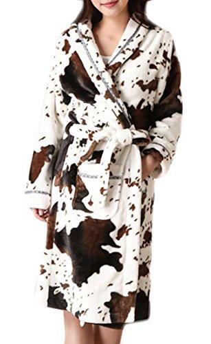 Women One Size Fashion Sexy Spandex Satin Lace Bath Robe White- - 8
