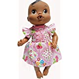 Doll Clothes Super store Pink Patchwork Dress Fits Baby Alive and Little Baby Dolls