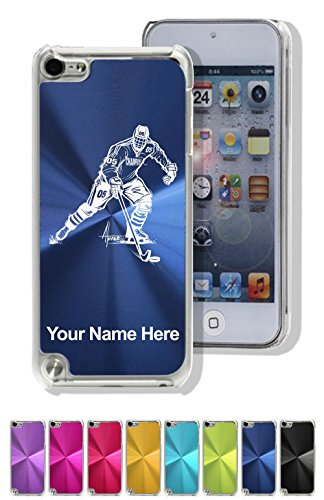Aluminum Ipod Touch Case - Case for iPod Touch 5th/6th Gen - Hockey Player Man - Personalized Engraving Included