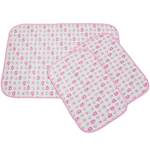 Big Save! MyKazoe Waterproof Bassinet Play Yard Pad & Lap Pads - Set of  3 (Pink Elephant)