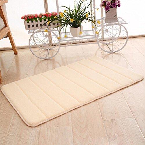4' Rubber Backing Pad (Makaor Memory Foam Mat Absorbent Slip-resistant Pad Bathroom Shower Bath Mats 50 x80cm/19.68x31.49Inch (50 x 80cm/19.68x31.49inch, Beige))