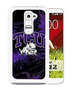 NCAA Big 12 Conference Big12 Football TCU Horned Frogs 1 White LG G2 Screen Phone Case Nice and Unique Design