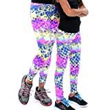 Mommy and Me Matching Clothing Leggings Set (Adult XS/S (fits Sizes 2-6), Circles Print)