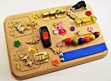 Product review for Toy for travel Sensory board Busy board for toddler Mini activity board Travel busy board Montessori Toy for autism Gift 1st Baby gifts