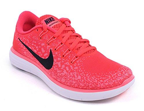 Nike Wmns Free RN Distance, Chaussures de Running Entrainement Femme Orange (Brght Crmsn / Blck-Hypr Orng-Wht)