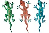 Regal Art & Gift Gecko Decor, 11-Inch Green, Copper Blue Geckos Home, Garden Wall Decoration