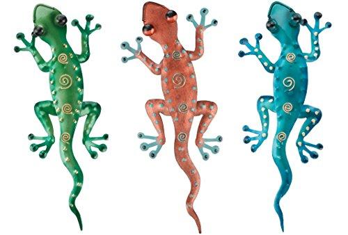 Regal Art & Gift Gecko Decor, 11-Inch Green, Copper Blue Geckos Home, Garden Wall Decoration by Regal Art & Gift