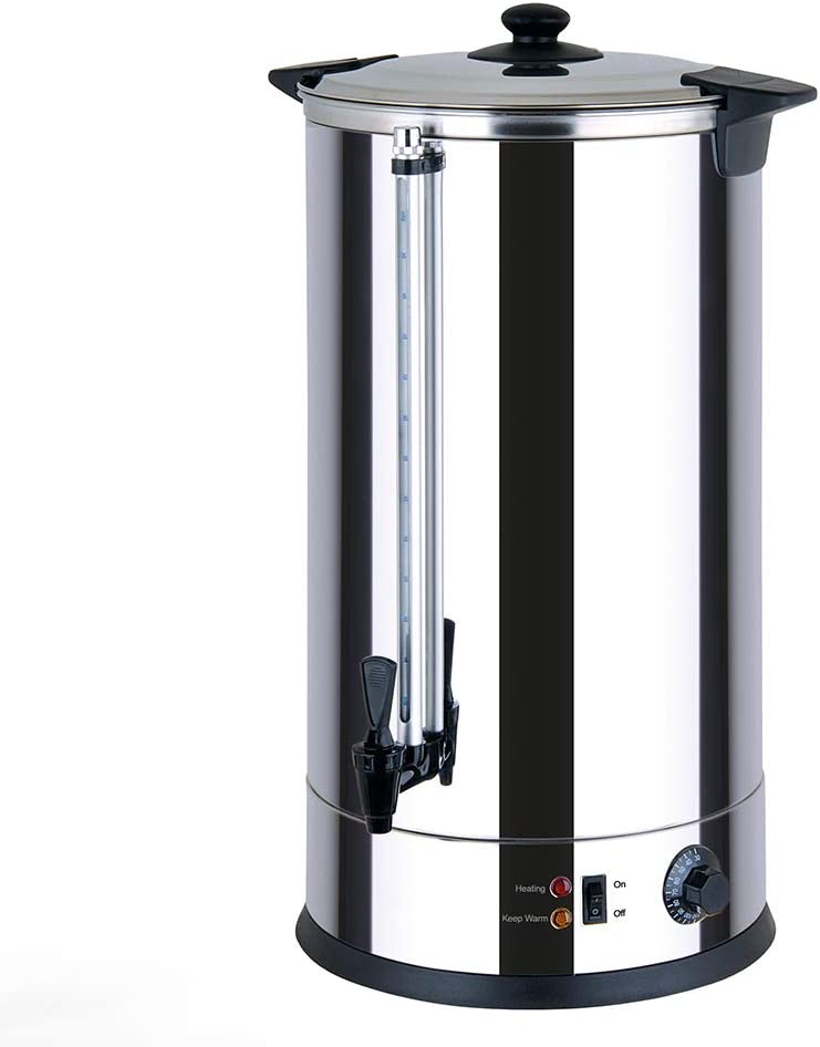Generic CTRN30 Catering Urn, Hot Water Boiler & Dispenser, Ideal for Home Brewing, Commercial or Office Use, 30 Litre Capacity