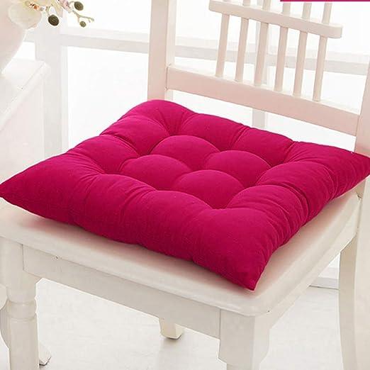ZHI-HA Espesar Color Sólido Silla, Confort Transpirable ...