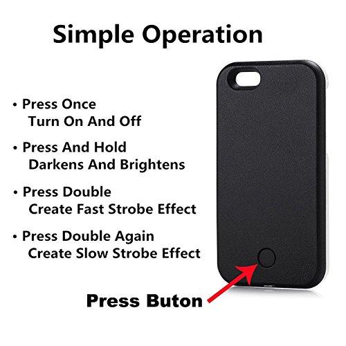 Funda con luz para selfies, Funda de teléfono para selfies y facetime