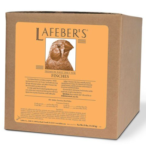 (LAFEBER'S Premium Daily Diet Pellets Pet Bird Food, Made with Non-GMO and Human-Grade Ingredients, for Finches, 25)
