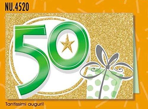Subito Disponibile Tarjeta Saludos Cumpleaños 50 Años ...