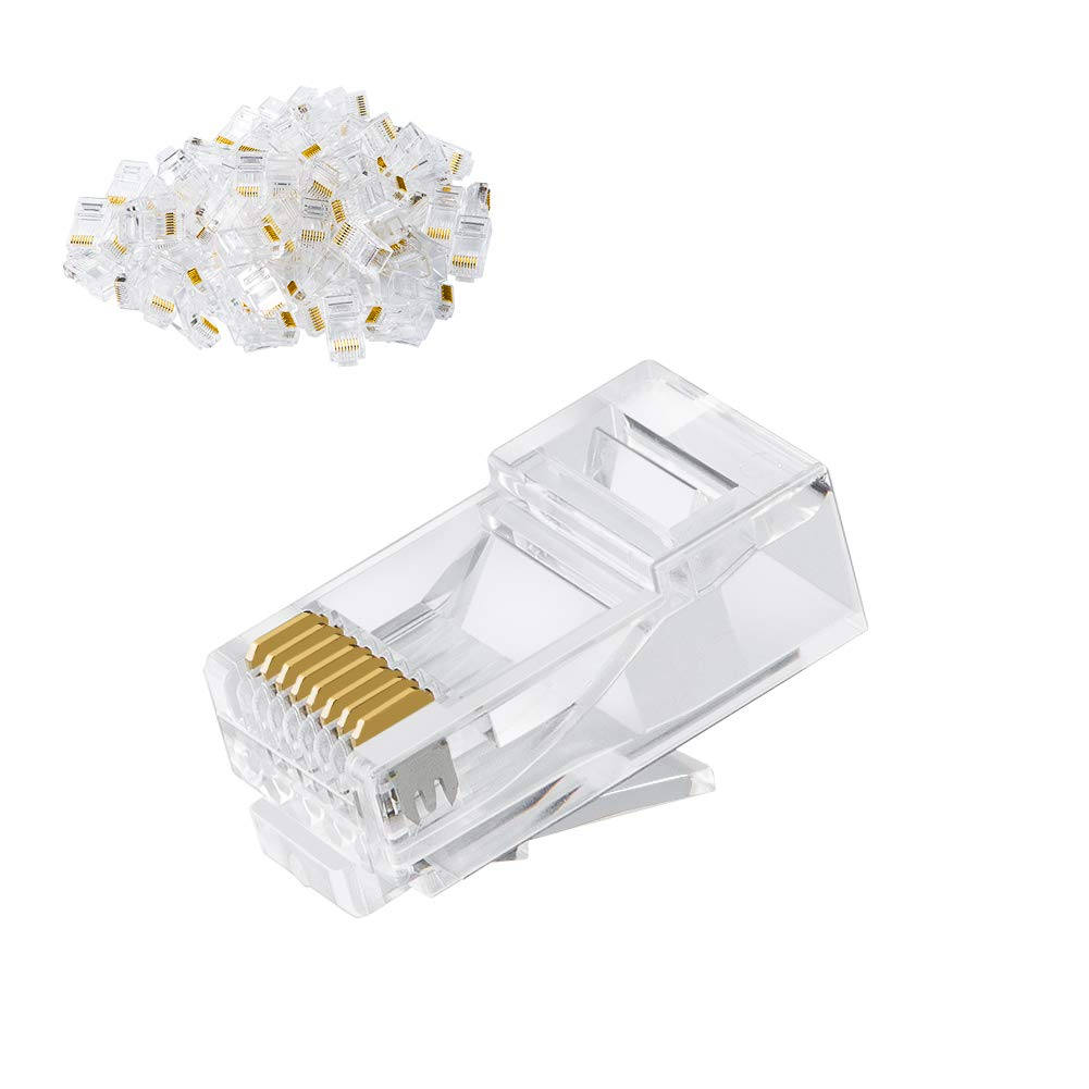 Re Crimp Ethernet Cable: CableCreation Cat6 RJ45 Ends 100-PACK Cat6 Connector Cat6a / Cat5e RJ45 Connector Ethernet Cable Crimp Connectors UTP Network Plug for Solid Wire rh:amazon.com,Design