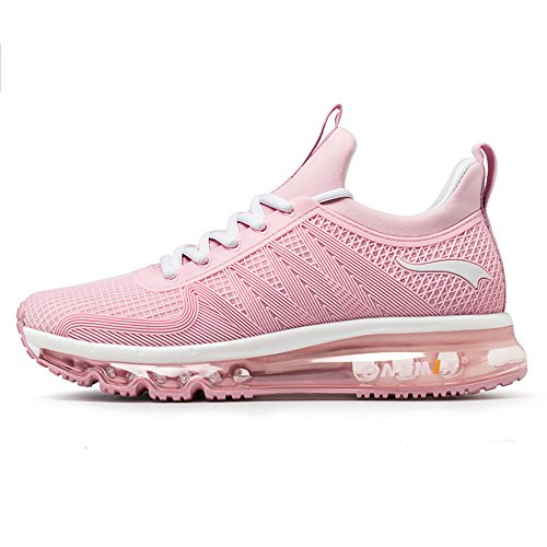ONEMIX Air Cushion Sports Running Casual Walking Sneakers Shoes for Men and Women LightPink 5.5B(M) US 9.45 inch =EUR38 -