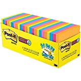 Post-it Super Sticky Notes, 3 in x 3 in, Rio de Janeiro Collection, 24 Pads, 70 Sheets/Pad, Cabinet Pack (654-24SSAU-CP)