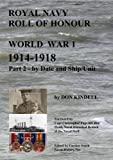 Royal Navy Roll of Honour - World War 1, by Date and Ship/Unit