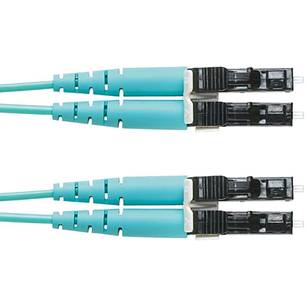 OM3 2 Fiber 1.6mm Jacket Patchcord Riser LC Duplex to LC Duplex Std IL - 5 Meter