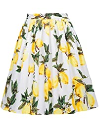 Women Pleated Vintage Skirts Floral Print CL6294...