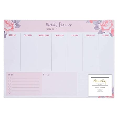 Noteworthy Graphic Florals Desk Stationery Collection A3 Desk Pad